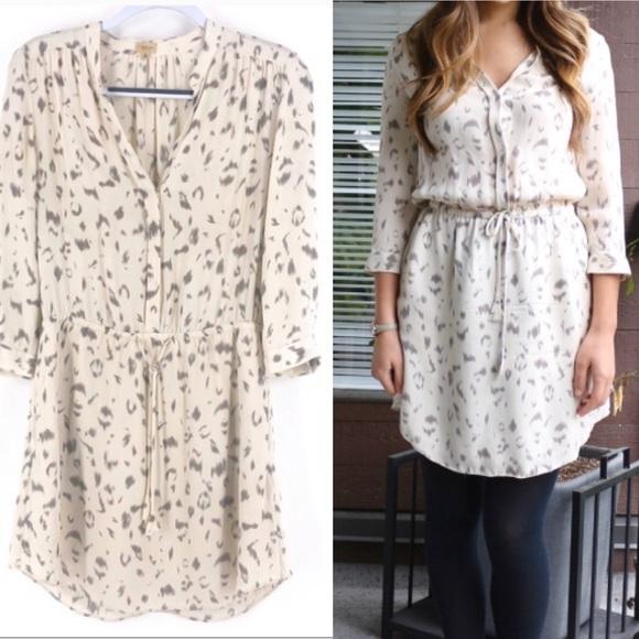 Babaton bennett dress sz xs in silk leopard